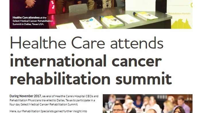 Healthe Care attends rehabilitation summit